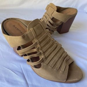 Rampage Strappy Wedge Sandals Natural Size 9.5 M